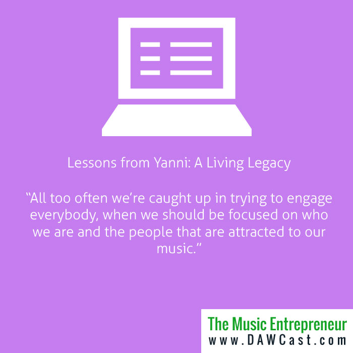 Lessons from Yanni: A Living Legacy