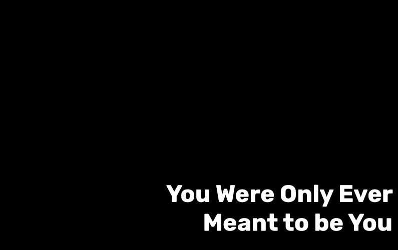 You Were Only Ever Meant to be One Thing
