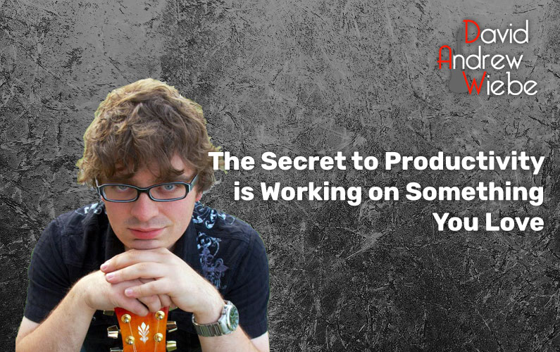 The Secret to Productivity is Working on Something You Love