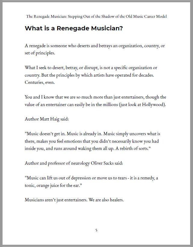 The Renegade Musician eBook