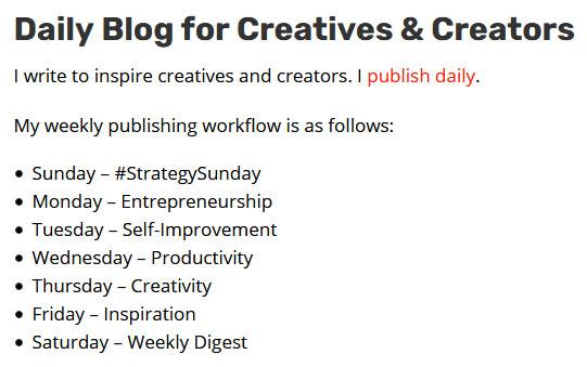 Daily blog