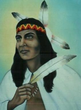 Caboclo Pena Branca é o guia que acompanha Maria Noêmia