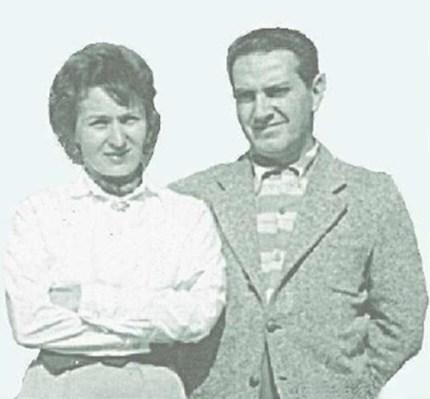 Raphael Azambuja se casou com Marion Mitterling, sobrevivente da Segunda Guerra Mundial e da Ocupação Soviética na Romênia (Foto: Acervo Familiar - 1958)