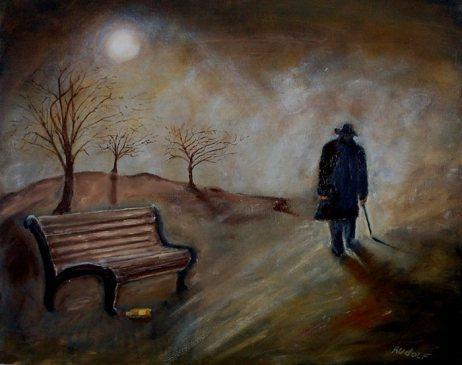 """""""Sinto-me como a tela de uma arte despojada de seus valores morbidamente conceituais"""" (Pintura: Rudolf Brink)"""