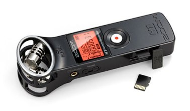 Meu gravador Zoom H1, companheiro de longa data (Foto: Reprodução)
