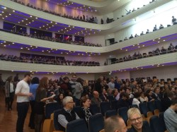 Audience at KKL Luzern just before David Arnold's concert