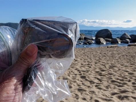 Takashi EZ F521 Digital Camera in a freezer bag