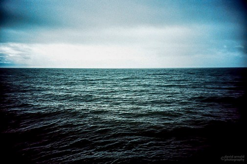 Approaching Rain, Pismo Pier, Pismo Beach, Ca. (Kodak EliteChrome EB3 film, process C-41.)