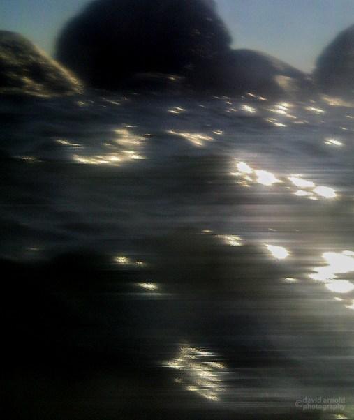 Granite Boulders in Wave Surge-1, Chimney Beach, Lake Tahoe, Nevada