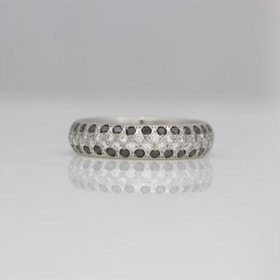 diamond pave set platinum ring