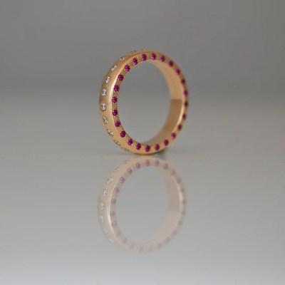 ruby diamond rose gold eternity ring