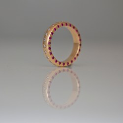ruby diamond rose gold eternity ring