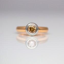 Contemporary orange diamond ring