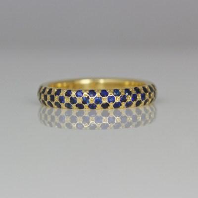 Sapphire pave set ring