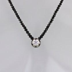 White black diamond necklace