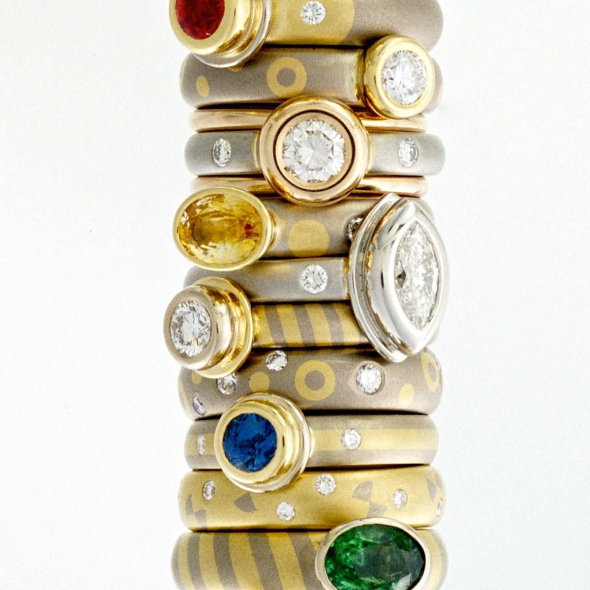 modern stacking rings