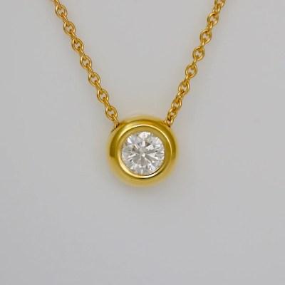 contemporary diamond necklace