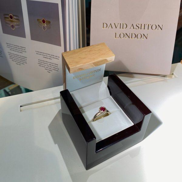 ruby ring in box