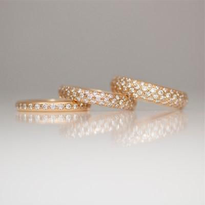 diamonds pave set in rose gold bespoke jewellery London