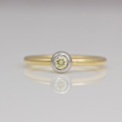 contemporary yellow diamond ring