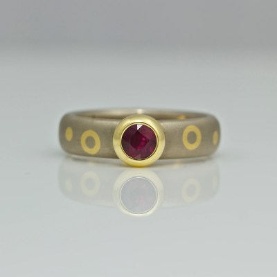 Contemporary ruby ring