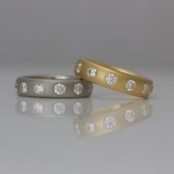 Modern chunky diamond eternity ring
