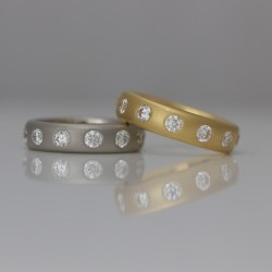 Modern chunky diamond eternity ring