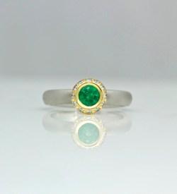 contemporary hand-made emerald ring