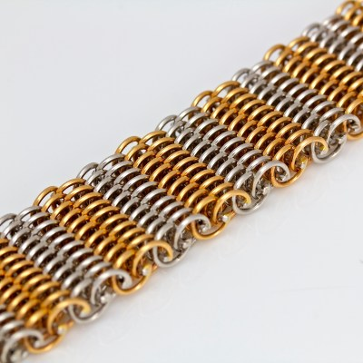 contemporary rose gold platinum bracelet