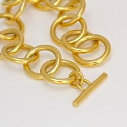 contemporary solid 18ct handmade bracelet