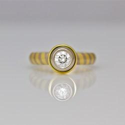 contemporary handmade diamond ring