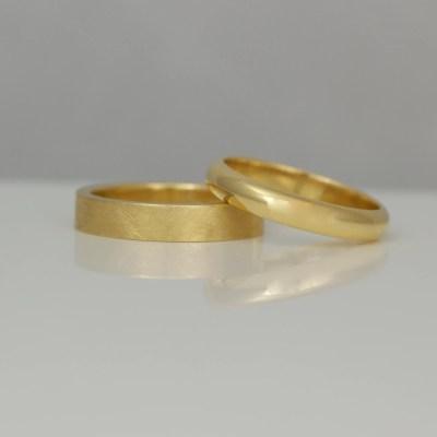 Hand made wedding rings