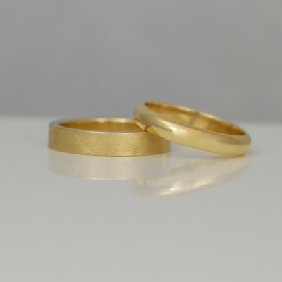 Hand made wedding rings