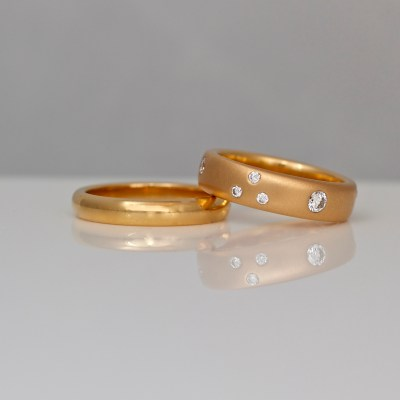18ct rose gold rings