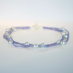 tanzanite pearl necklace