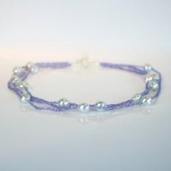 tanzanite pearl necklace