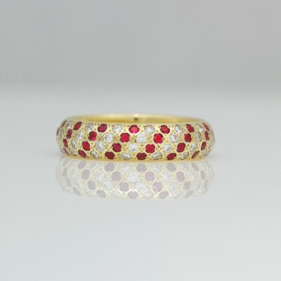 contemporary ruby diamond ring