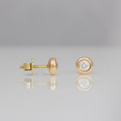 modern rose gold diamond ear-studs