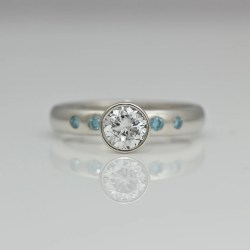 Perfect diamond platinum engagement ring
