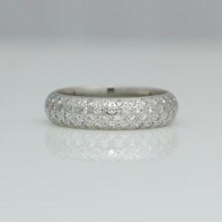 Chunky pave set platinum ring