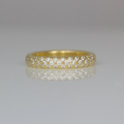 Modern diamond eternity ring