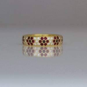 Ruby & diamond Poppy ring