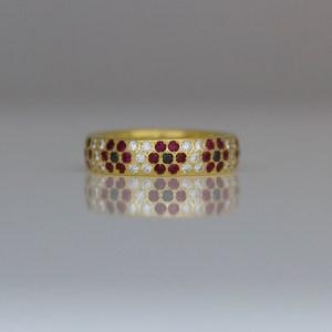 Ruby & diamond Poppy ring
