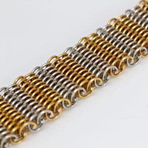"Platinum & rose gold ""Victorian"" bracelet."