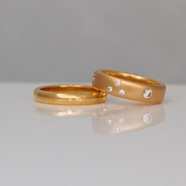 18ct rose gold rings bespoke David Ashton