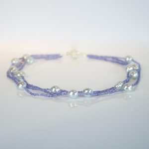 Tanzanite & Southsea pearl necklace