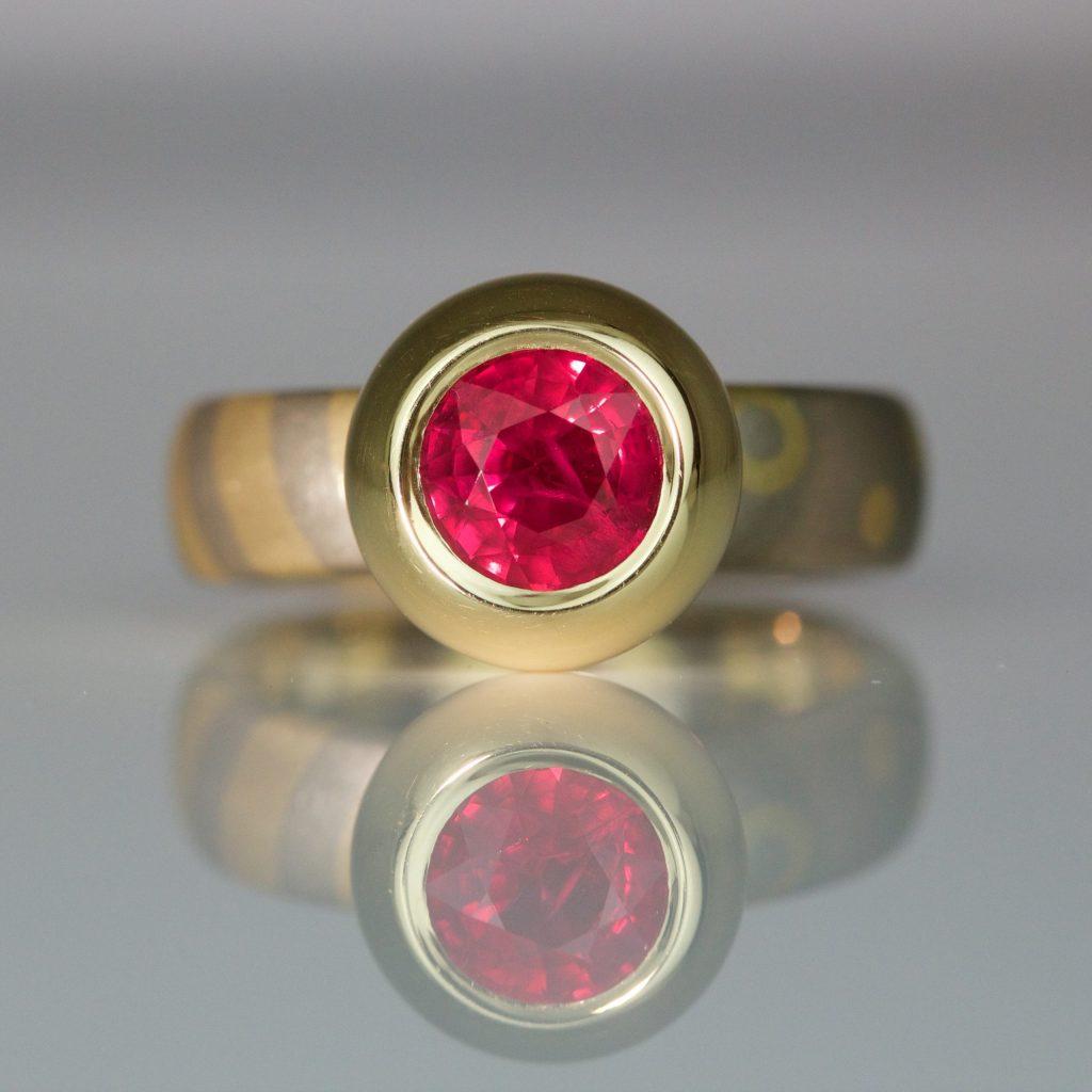 modern ruby ring David Ashton 1026