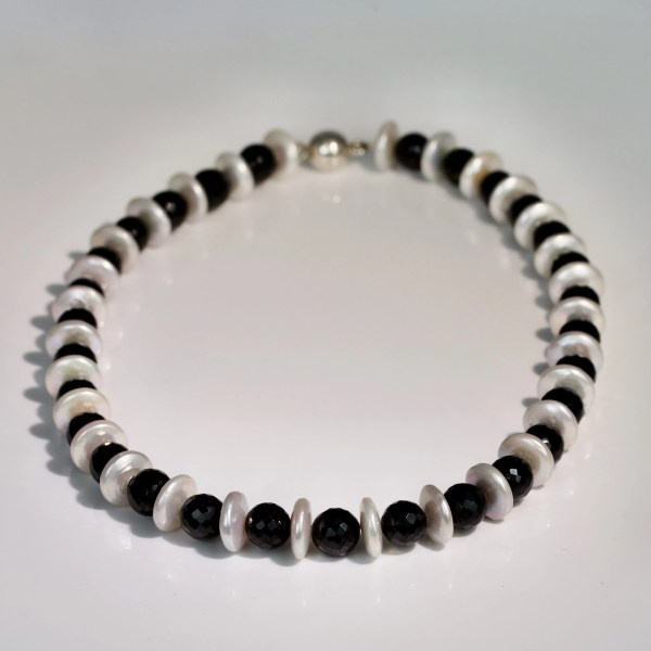 Spinel & pearl necklace