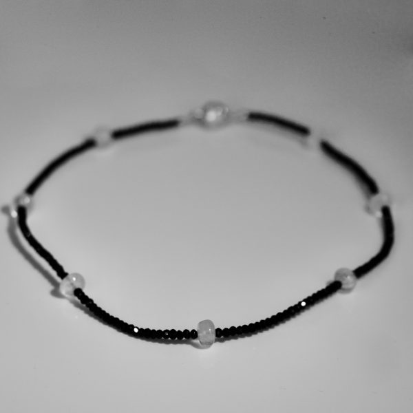 Spinel with moonstone necklace