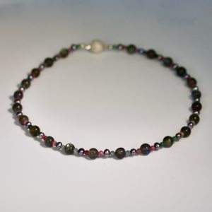 Tourmaline, labradorite & pearl necklace